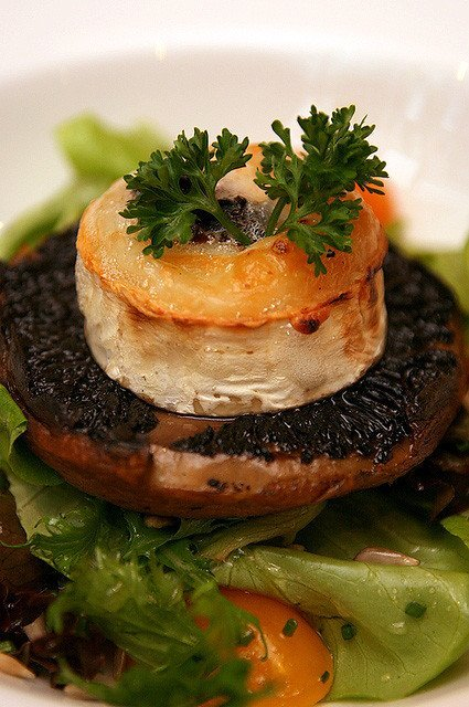 Portobello Mushroom Salad by chef Claudio Sandri and Josper
