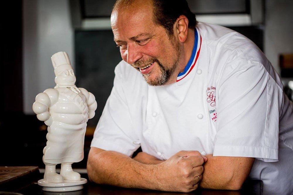Gilles Goujon, tres estrellas Michelin y Josper