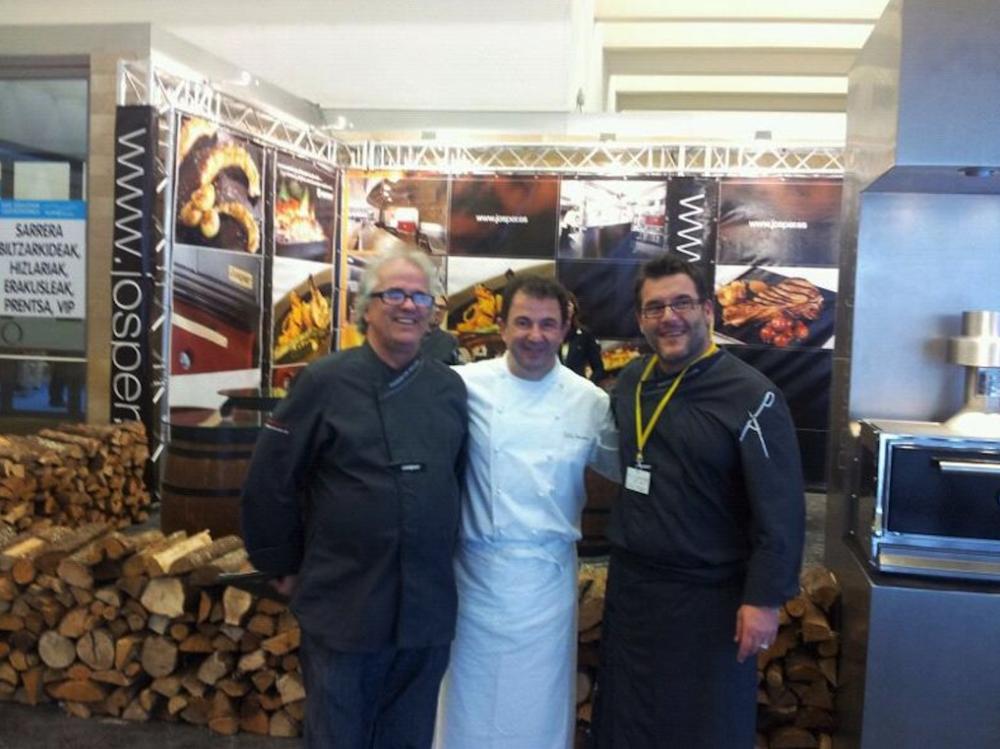 Martín Berasategui en Gastronomika con Josper