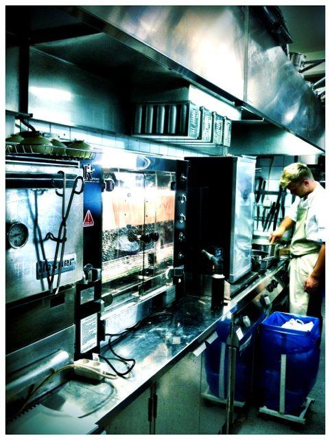 Un horno Josper en Frantzén-Lindberg, estocolmo