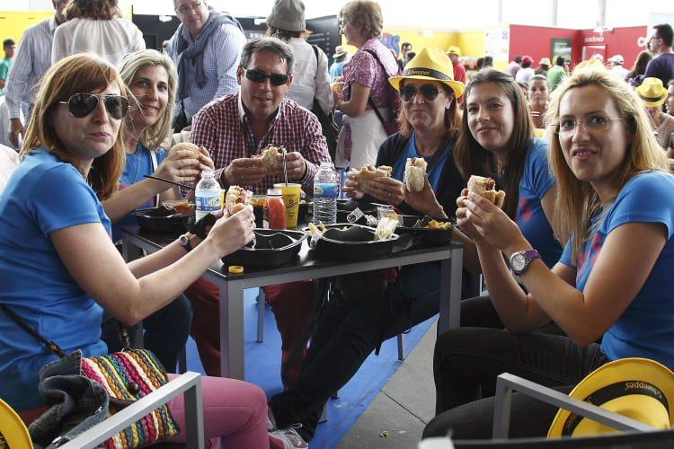 Una hamburguesa al Josper en el Madrid Open