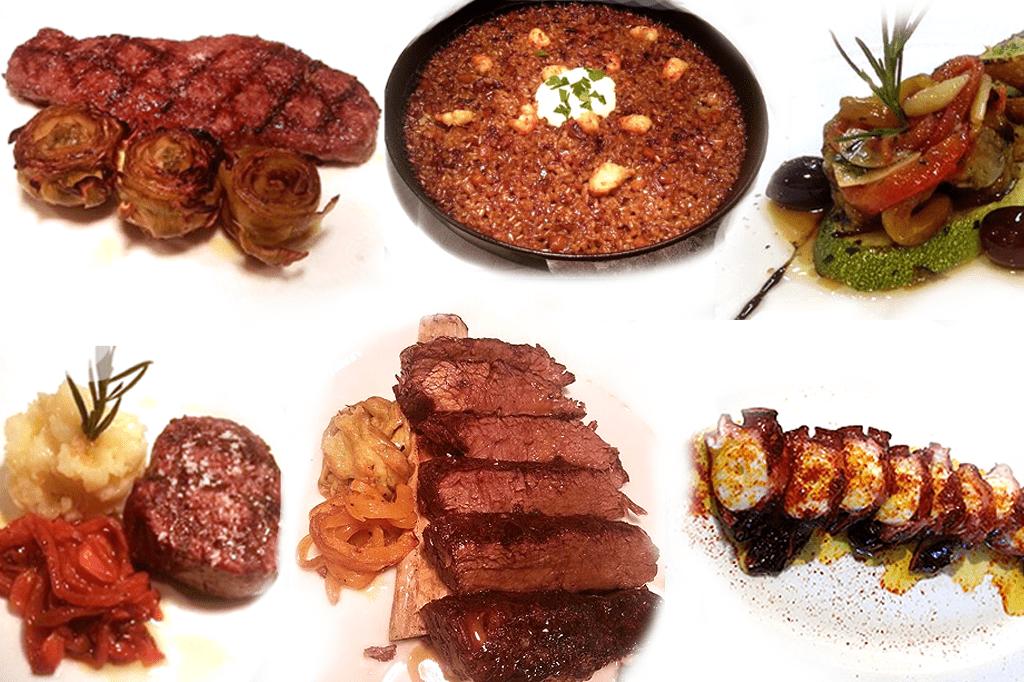 Platos cocinados en un Josper en Seúl