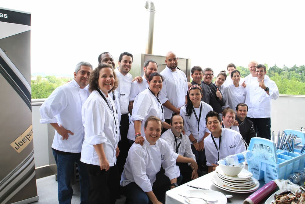 Los alumnos del Basque Culinary Center que participaron del evento
