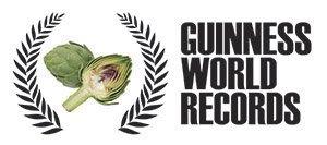 Logo del record Guinness de alcachofas a la brasa