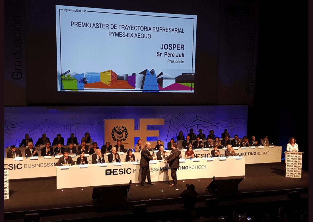 Premio Aster par Pere Juli, de Josper, por el ESIC