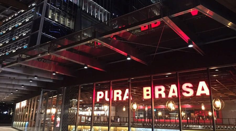 Pura Brasa Singapore in the emblematic Tanjong Pagar Centre, the city's tallest building