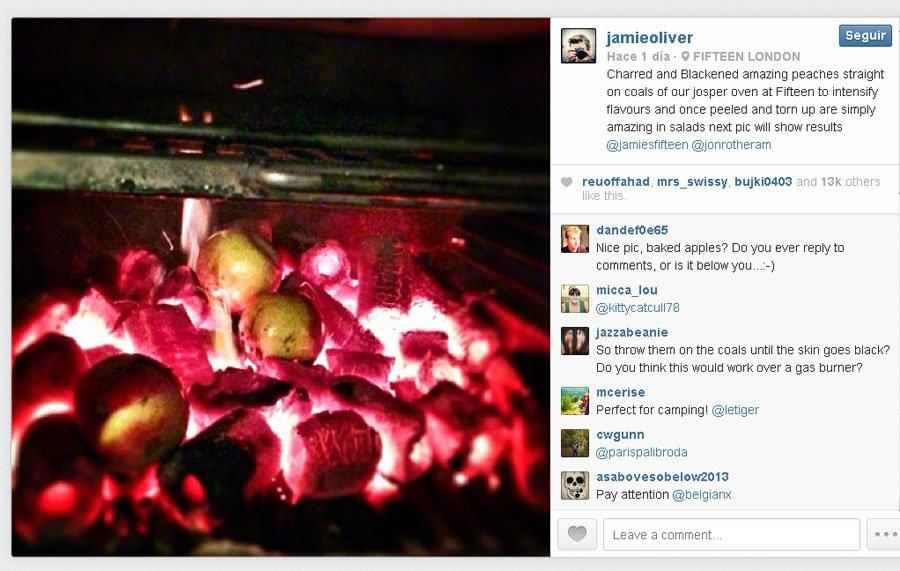 Jamie Oliver, con Josper